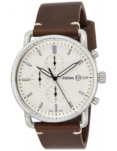 Chic Time | Montre Homme Fossil The Commuter FS5402 Bracelet cuir marron  | Prix : 143,65 €