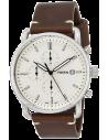 Chic Time | Montre Homme Fossil The Commuter FS5402 Bracelet cuir marron  | Prix : 143,65€