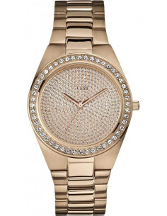 Chic Time | Montre Femme Guess Trendy W12651L1 Or Rose  | Prix : 199,00 €