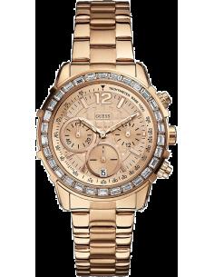Chic Time | Montre Femme Guess W0016L5 Bracelet en Acier Doré Rose Allure Sport  | Prix : 349,00€