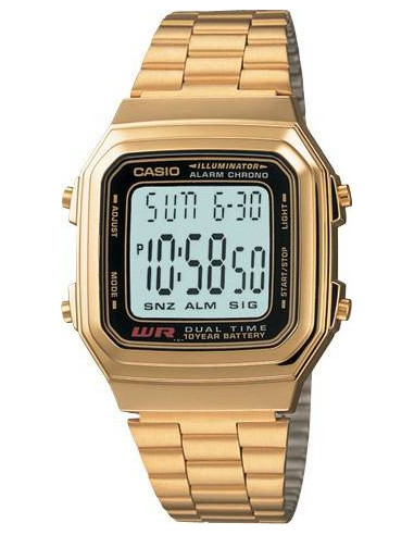 Chic Time | Montre Homme Casio Vintage A178WGA-1AUDF Or  | Prix : 39,00 €