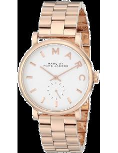 Chic Time | Montre Femme Marc By Marc Jacobs Baker MBM3244 Bracelet doré rose en acier  | Prix : 183,20€