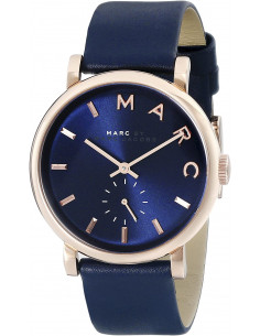 Chic Time | Montre Femme Marc by Marc Jacobs Baker MBM1329 Bracelet bleu marine en cuir  | Prix : 159,20€