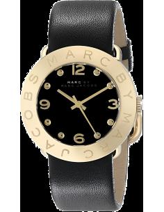 Chic Time | Montre Femme Marc By Marc Jacobs MBM1154 Amy cuir Noir  | Prix : 143,20€