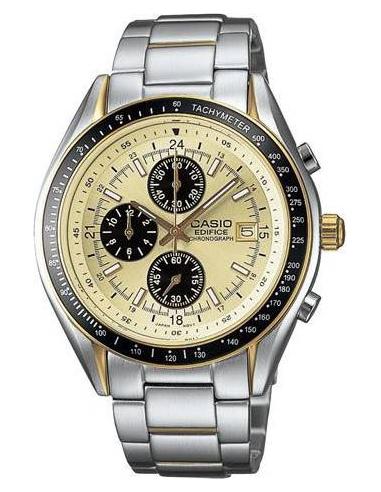 Chic Time | Montre Casio Edifice EF-503SG-9AVDR Chronomètre Or et Acier  | Prix : 89,90€