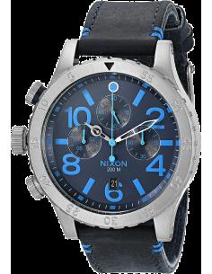 Chic Time | Montre Homme Nixon 48-20 Chrono A363-2219 Bleu  | Prix : 379,90€