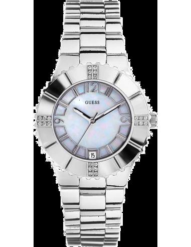 Chic Time | Montre Femme Guess G95469L Fond Nacre Bracelet Acier  | Prix : 165,00€
