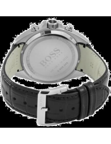 Chic Time | Montre Hugo Boss Chrono Driver 1512879 Bracelet croco noir en cuir  | Prix : 389,00€