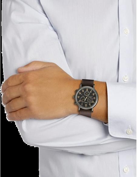 Chic Time   Montre Homme Timex Weekender TW2P854009J Marron    Prix : 118,93€