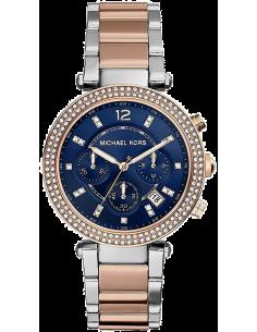 Chic Time | Montre Femme Michael Kors Parker MK6141 Cadran bleu foncé et bracelet deux tons  | Prix : 189,90€