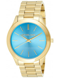 Chic Time | Montre Femme Michael Kors Runway MK3265 Bracelet or et cadran bleu  | Prix : 99,50€