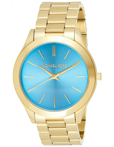 Chic Time | Montre Femme Michael Kors Runway MK3265 Bracelet or et cadran bleu  | Prix : 119,40€