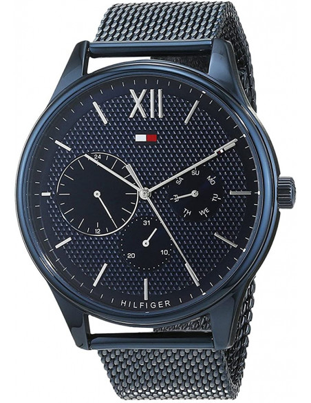 Chic Time | Montre Homme Tommy Hilfiger Damon 1791421 Bleu en mesh bracelet  | Prix : 153,30€