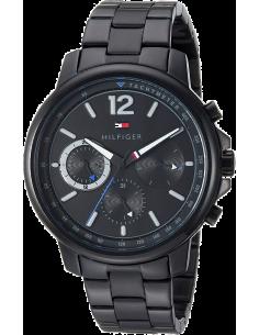 Chic Time | Montre Homme Tommy Hilfiger Landon 1791529 Noir Acier Chronographe  | Prix : 159,20€