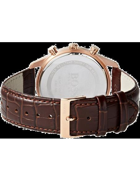 Chic Time | Montre Homme Hugo Boss Ambassador 1513198 Boîtier doré rose et bracelet brun  | Prix : 319,99€