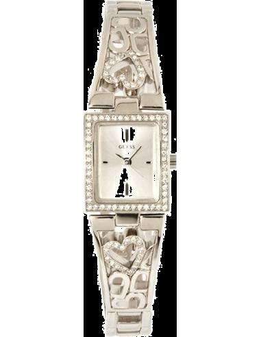 Chic Time   Montre Guess Femme U85041L1 Rectangulaire Bracelet Coeur    Prix : 139,90€
