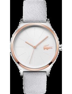 Chic Time | Montre Femme Lacoste Nikita 2001013 bracelet en cuir de veau blanc  | Prix : 109,99€