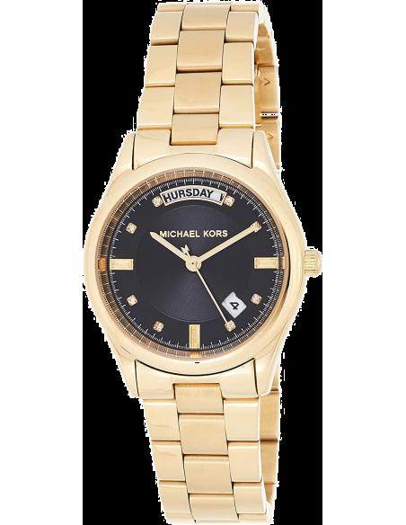 Chic Time   Montre Femme Michael Kors Colette MK6070 Cadran noir fonctions date et jour    Prix : 183,20€