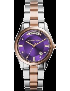 Chic Time | Montre Femme Michael Kors Colette MK6072 Cadran violet et bracelet bicolore  | Prix : 160,30€