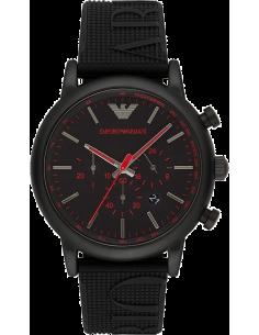 Chic Time | Montre Emporio Armani Luigi AR11024 Bracelet en silicone noir  | Prix : 167,40€