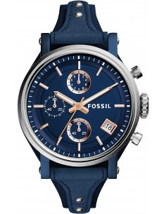 Chic Time | Montre Femme Fossil Original Boyfriend ES4113 Bleue  | Prix : 203,15€