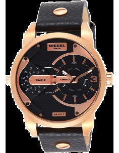 Chic Time | Montre Diesel Mini Daddy DZ7317 Cuir noir et Or Rose  | Prix : 279,00€