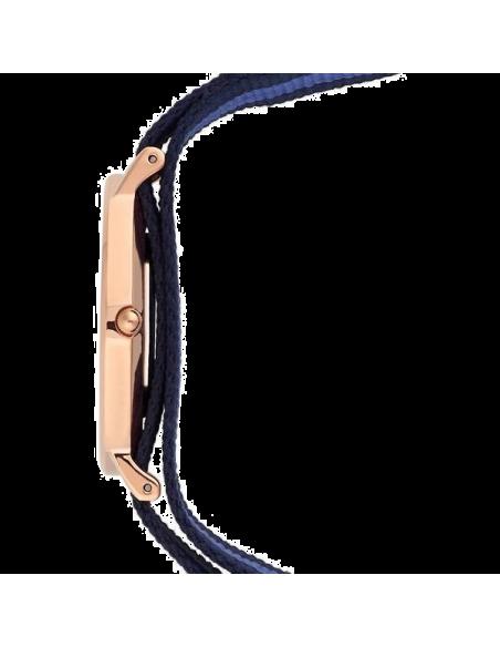 Chic Time | Montre Daniel Wellington 0504DW Boîtier or rose bracelet textile bleu et noir  | Prix : 103,20€