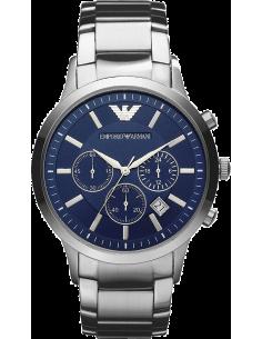 Chic Time   Montre Emporio Armani Renato AR2448 bracelet en acier fond bleu    Prix : 179,50€