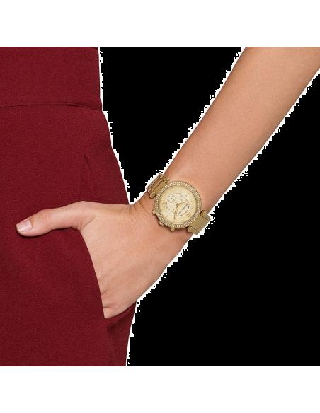 Chic Time   Montre Chronomètre Michael Kors Parker MK5354 acier doré couronne strass    Prix : 179,40€