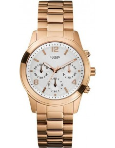 Chic Time | Montre Guess Femme Contemporary Chronographe Or Rose  | Prix : 305,98 €