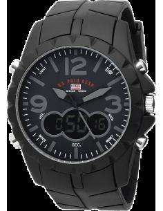 Chic Time | Montre Homme US Polo Analogique/Digitale Bracelet En Caoutchouc Noir  | Prix : 49,90€