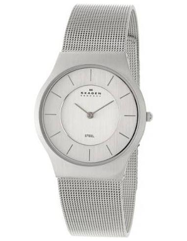 Chic Time   Montre Homme Skagen Slimline 233LSS Plate Bracelet en maille Cadran épuré    Prix : 119,00€