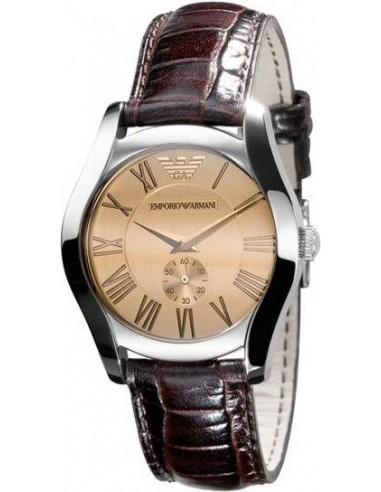Chic Time | Montre Emporio Armani AR0646 Cuir Marron  | Prix : 223,20€