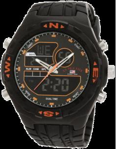 Chic Time | Montre Homme US Polo US9059 Analogique/Digitale Bracelet En Caoutchouc Noir  | Prix : 49,90€