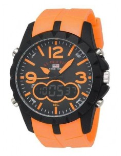 Chic Time | Montre Homme US Polo US9057 Analogique/Digitale Bracelet En Caoutchouc Orange  | Prix : 49,90€