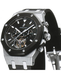 Chic Time | Montre Homme Audemars Piguet Royal Oak Offshore Tourbillon Chronograph 26377SK.OO.D002CA.01  | Prix : 111,720.00