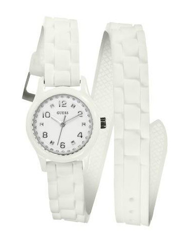 Chic Time | Montre Guess Femme Wrapped Up Micro Mini Blanche W65023L1  | Prix : 109,00€