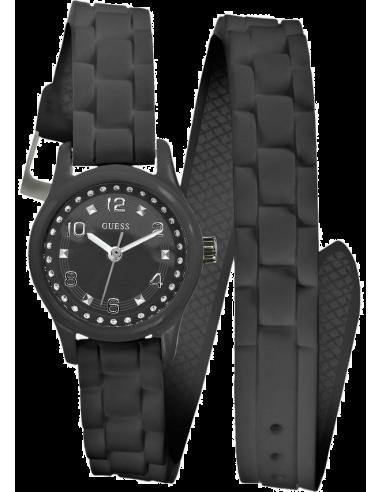Chic Time | Montre Guess Femme Wrapped Up Micro Mini Noire W65023L2  | Prix : 109,00€