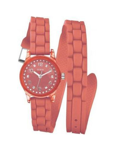 Chic Time   Montre Guess Femme Wrapped Up Micro Mini Corail W65023L4    Prix : 109,00€