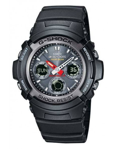 Chic Time | Montre Casio G-Shock Radio Pilotée MC Blacknight AWG-101-1AER  | Prix : 139,00 €