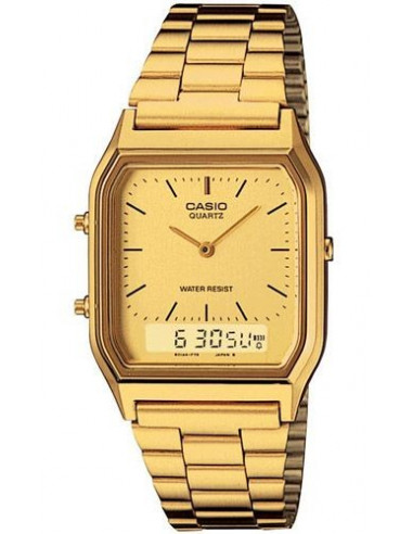 Chic Time   Montre Homme Casio Vintage AQ-230GA-9DMQYES Or    Prix : 39,20€