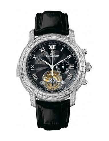 Chic Time | Montre Homme Audemars Piguet Jules Audemars Tourbillon Chronograph Minute Repeater 26118BC.ZZ.D002CR.01  | Prix :...