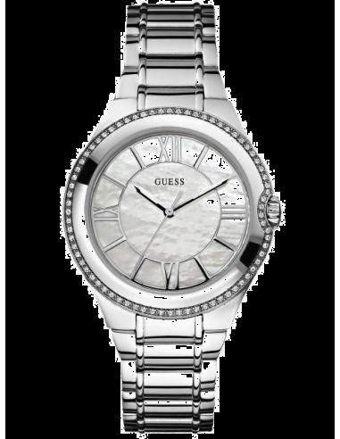 Chic Time | Montre Guess Femme Sport Steel Moonbeam W12117L1 Nacré  | Prix : 179,00€