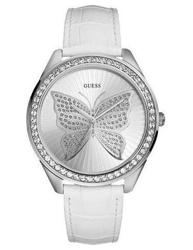 Chic Time   Montre Guess Butterfly U85047L1 Blanche    Prix : 169,90€