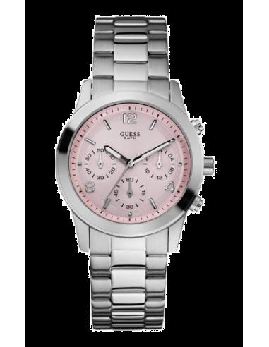 Chic Time | Montre Femme Guess Mini Spectrum W12086L2 Cadran rose  | Prix : 229,00€