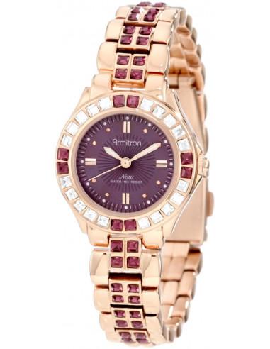 Chic Time | Montre Femme Armitron 75/3689VMRG Amethyst Colored Swarovski Crystal  | Prix : 89,00€