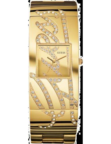 Chic Time | Montre Femme Guess Autograph Dorée W15052L1 Braclet Acier doré avec logo Guess  | Prix : 249,00€