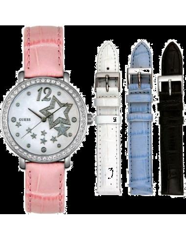 Chic Time | Coffret Cadeau Montre Guess U95043L1 Bracelet rose interchangeable  | Prix : 159,00€