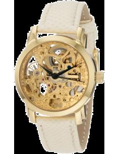Chic Time | Montre Femme Akribos XXIV AKR431YG Bracelet En Cuir blanc  | Prix : 435,00€