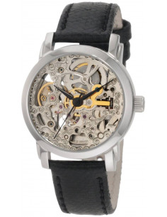 Chic Time | Montre Femme Akribos XXIV AKR431SS Bracelet En Cuir Noir   | Prix : 139,99€